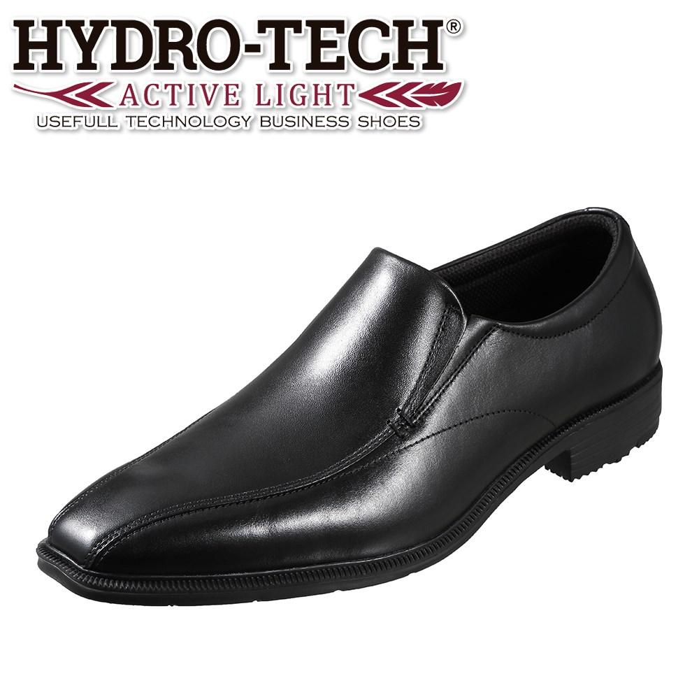 3000円以上送料無料 4000アイテム以上取扱 全国に店舗展開する 爆買いセール 靴チヨダ 市場店 ハイドロテック アクティブライト いよいよ人気ブランド HYDRO-TECH ACTIVE LIGHT ビジネスシューズ 本革 軽量 メンズ靴 小さいサイズ対応 HD1402 大きいサイズ対応 スリッポン ブラック