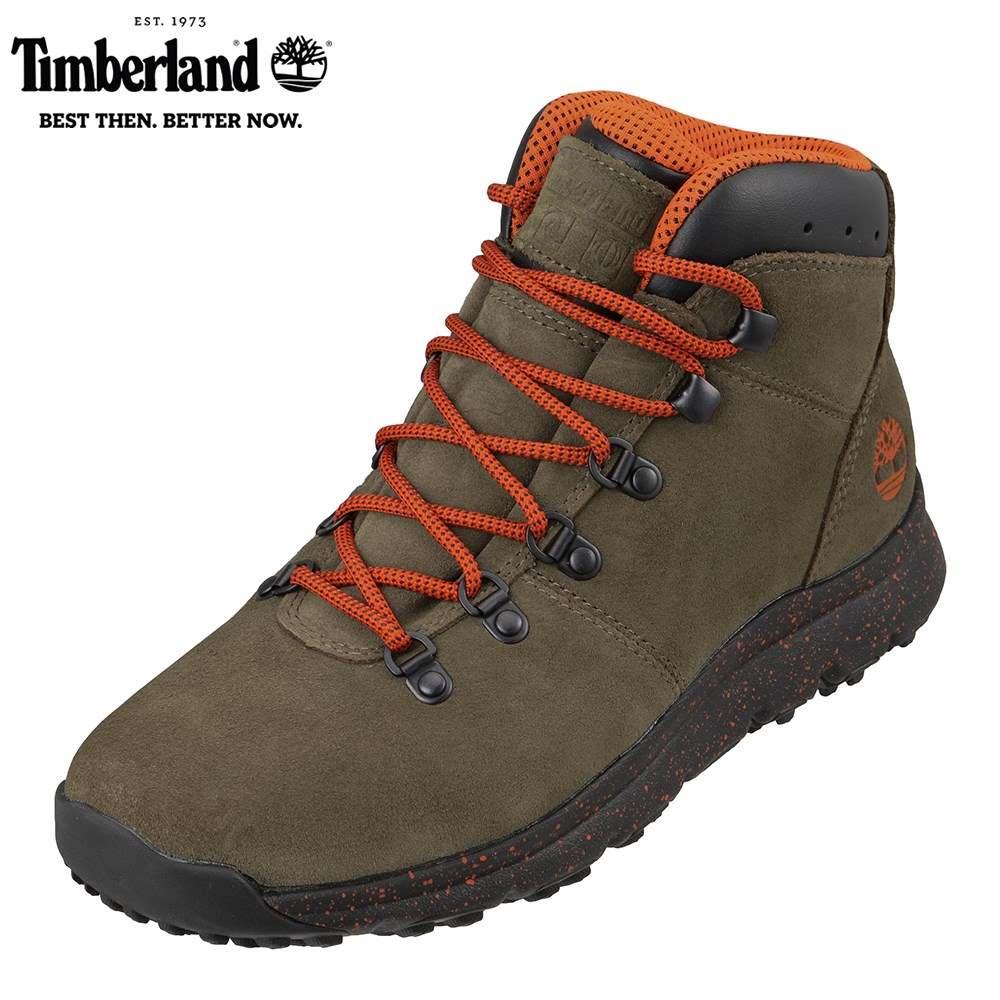 ティンバーランド Timberland TIMB A216K メンズ靴 3E相当 ブーツ アウトドア World Hiker Mid 本革 レザー ダークグリーン