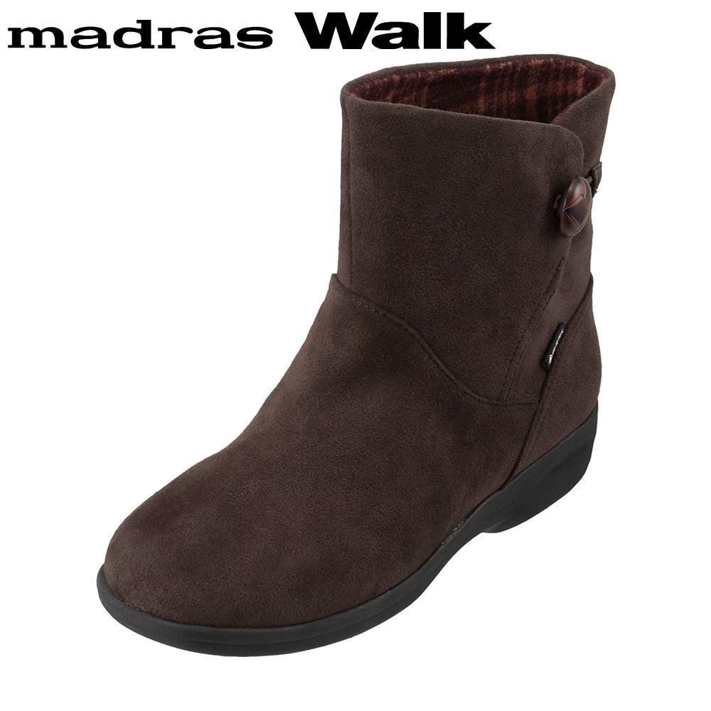 マドラスウォーク madras Walk MWL2109 レディース靴 4E相当 ブーツ ショートブーツ 防水 雨の日 ゴアテックス 透湿 蒸れにくい ダークブラウン