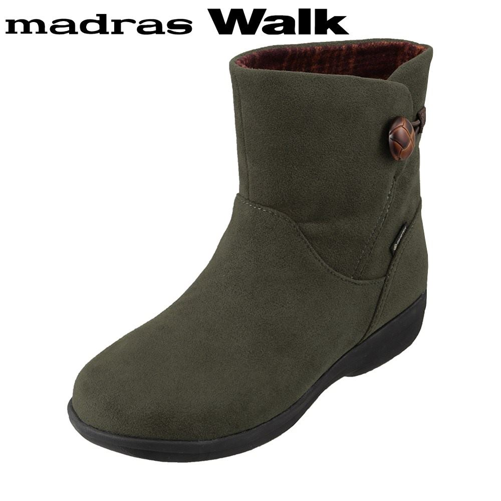 マドラスウォーク madras Walk MWL2109 レディース靴 4E相当 ブーツ ショートブーツ 防水 雨の日 ゴアテックス 透湿 蒸れにくい カーキ