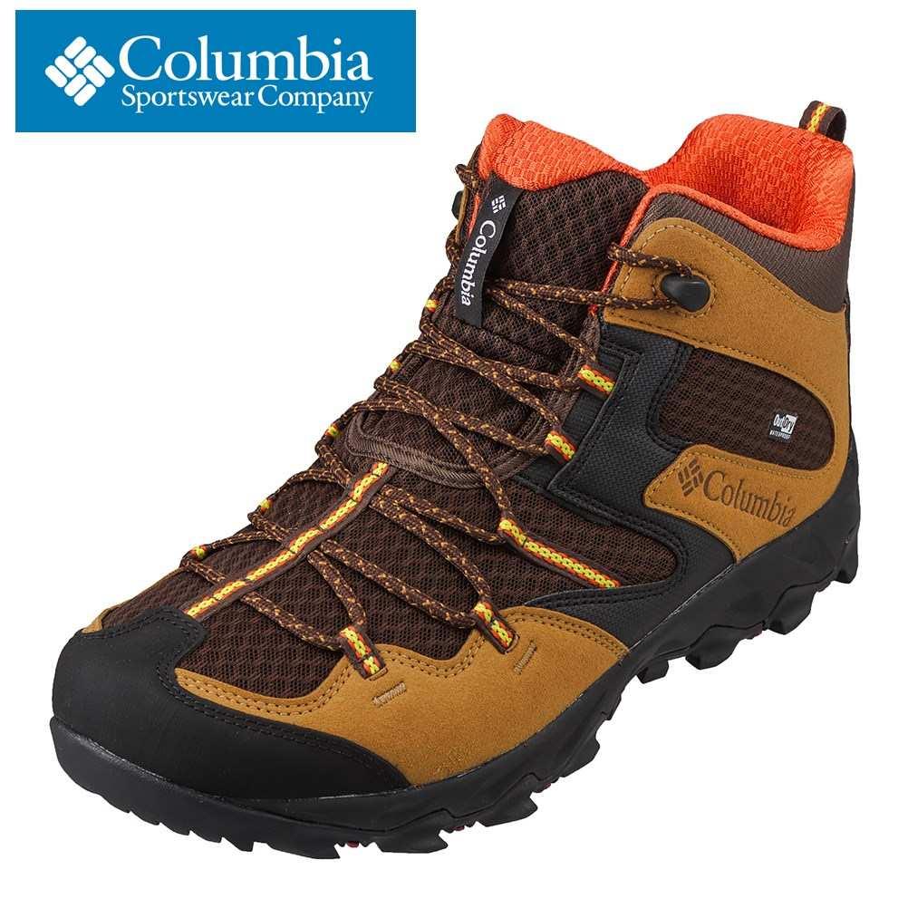 コロンビア columbia YI7463 メンズ靴 靴 シューズ 2E相当 アウトドアシューズ トレッキング ハイキング 防水 透湿 小さいサイズ対応 大きいサイズ対応 ブラック