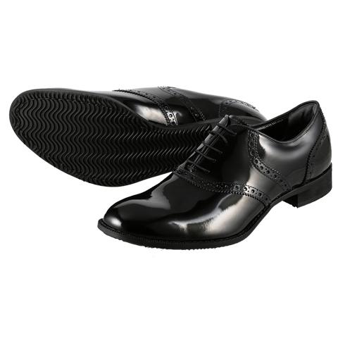 [ジェイド] JADE JD4003 メンズ | 革靴 ダンスシューズ | 本革 エナメルシューズ | 内羽根式プレーンタイプ ドレッシー | 小さいサイズ対応 24.5cm | ブラック×エナメル