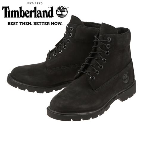 [ティンバーランド] Timberland TIMB 10042 メンズ   ショートブーツ レースアップブーツ   ウォータープルーフブーツ 6インチベーシック   防水 耐久性   大きいサイズ対応 28.0cm   ブラック