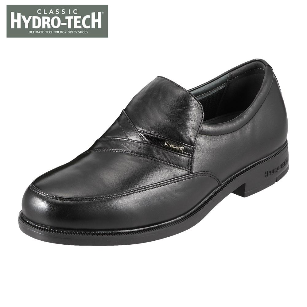 ハイドロテック ビジネスシューズ HYDRO TECH クラシック HD1392 メンズ靴 靴 シューズ 4E ビジネスシューズ 防水 スリッポン Uチップ 軽量 軽い 滑りにくい 黒 山羊革 通勤 仕事 クッション性 カップインソール 小さいサイズ 対応 24.0cm 24.5cm ブラック