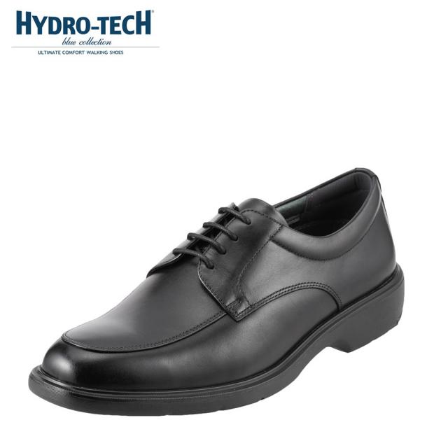 ハイドロテック ビジネスシューズ HYDRO TECH ブルーコレクション HD1324 メンズ靴 靴 シューズ 3E ビジネスシューズ 防水 本革 外羽根 Uチップ 軽量 軽い ビジネス 通勤 仕事 衝撃吸収 滑りにくい 雨の日 大きいサイズ 対応 28.0cm ブラック