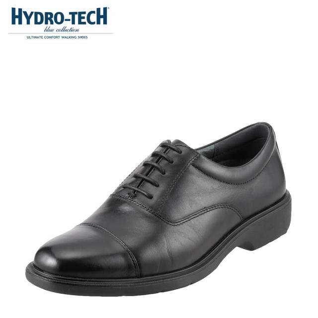 ハイドロテック ビジネスシューズ HYDRO TECH ブルーコレクション HD1325 メンズ靴 靴 シューズ 3E ビジネスシューズ 防水 本革 内羽根 ストレートチップ 軽量 軽い ビジネス 通勤 仕事 衝撃吸収 滑りにくい 雨の日 大きいサイズ 対応 28.0cm ブラック