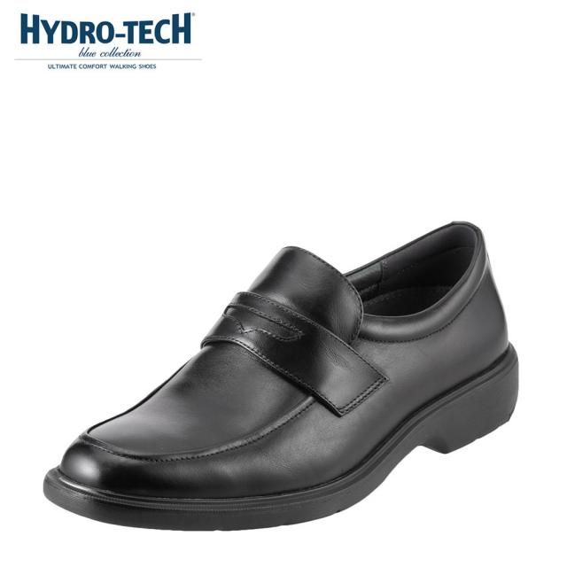 ハイドロテック ビジネスシューズ HYDRO TECH ブルーコレクション HD1326 メンズ靴 靴 シューズ 3E ビジネスシューズ 防水 本革 スリッポン ローファー 軽量 軽い ビジネス 通勤 仕事 衝撃吸収 滑りにくい 雨の日 大きいサイズ 対応 28.0cm ブラック