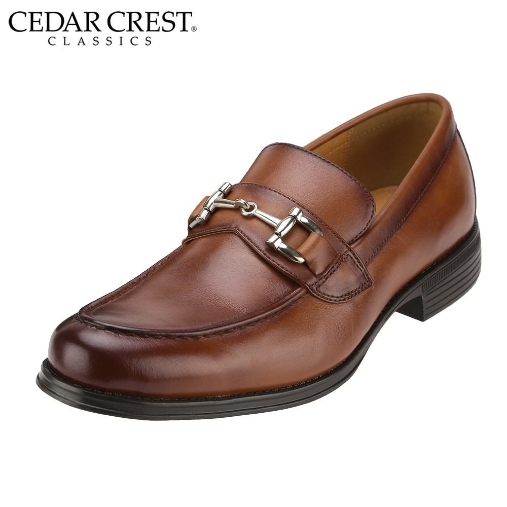[セダークレスト クラシックス] CEDAR CREST CC-1632 メンズ | ビジネスシューズ | モカシン 本革 | ビットタイプ ローファータイプ | 幅広3E ゆったり | ブラウン