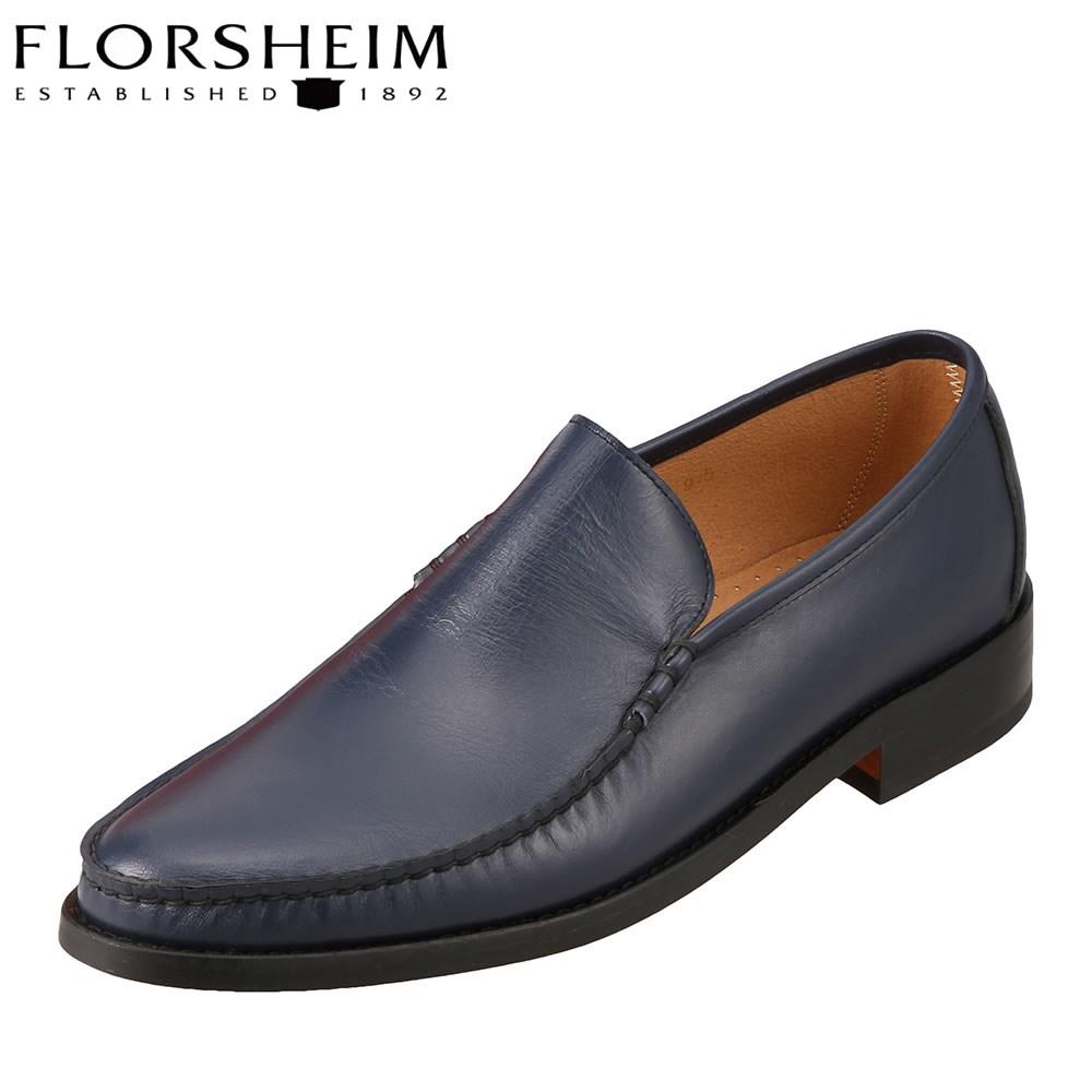 [フローシャイム] FLORSHEIM 11197 メンズ | コブラヴァンプ ヴァンプローファー | スリッポン ローファ | 本革 日本製 | 大きいサイズ対応 28.0cm | ネイビー