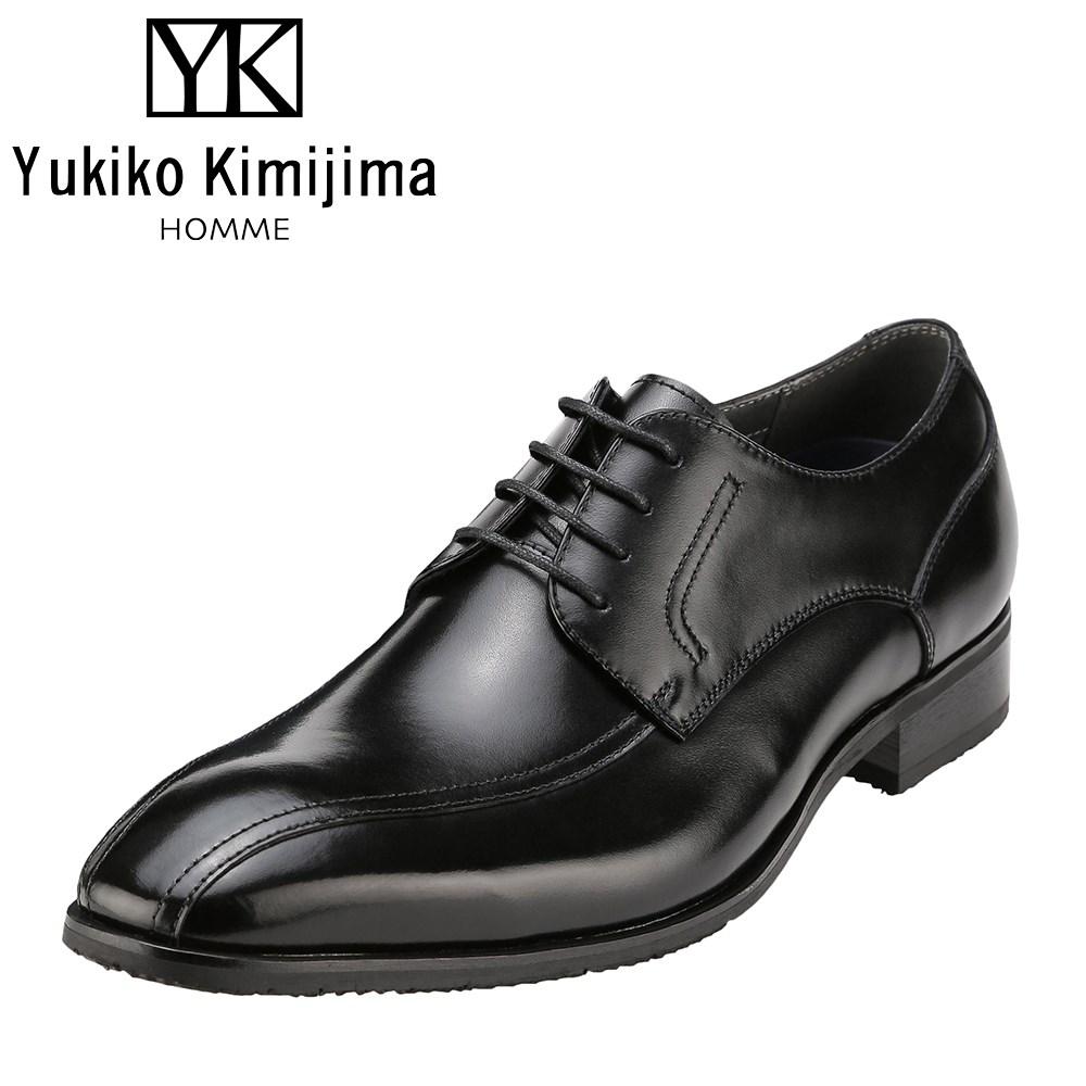 ユキコキミジマオム Yukiko Kimijima 3201 メンズ靴 靴 シューズ ビジネスシューズ 本革 外羽根 スワールモカ 日本製 国産 防滑 カップインソール 幅広 3E ブラック