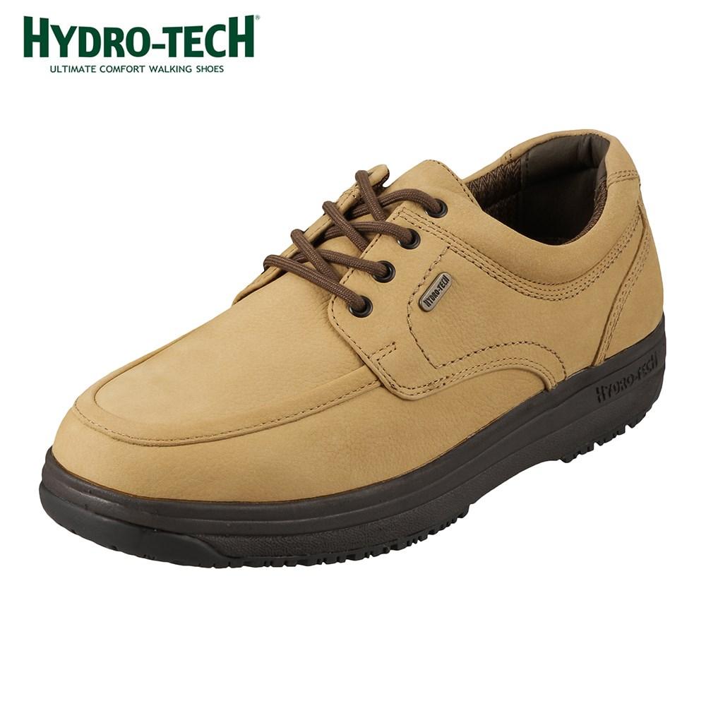 ハイドロテック ウォーキング HYDRO TECH ウォーキング 6301 メンズ靴 靴 シューズ 4E ウォーキングシューズ 防水 本革 幅広 ゆったり レースアップ ローカット 衝撃吸収 滑りにくい 雨の日 ベージュ