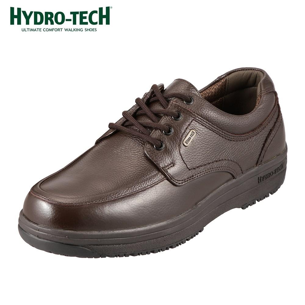 [マラソン期間中ポイント5倍]ハイドロテック ウォーキングシューズ HYDRO TECH ウォーキング 6301 メンズ靴 靴 シューズ 4E ウォーキングシューズ 防水 本革 幅広 レースアップ ローカット 衝撃吸収 滑りにくい 歩きやすい チョコ(ダークブラウン)