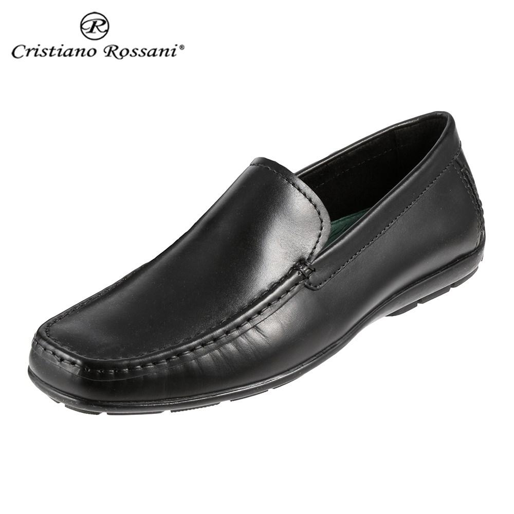 クリスチアーノ・ロザーニ Cristiano Rossani 2001 メンズ | ドライビングシューズ | スリッポン | イタリアンレザー|イタリア製本革 | ITALY|レザー | 幅広 ゆったり | ブラック 取寄