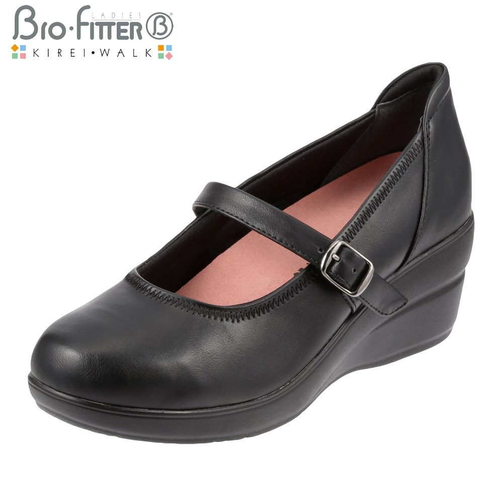 [Biofilter, Kiley walk] Bio Fitter KIREI WALK BFL13450 ladies | Wedge sole pumps | P16Sep15 (small size) black (large size)