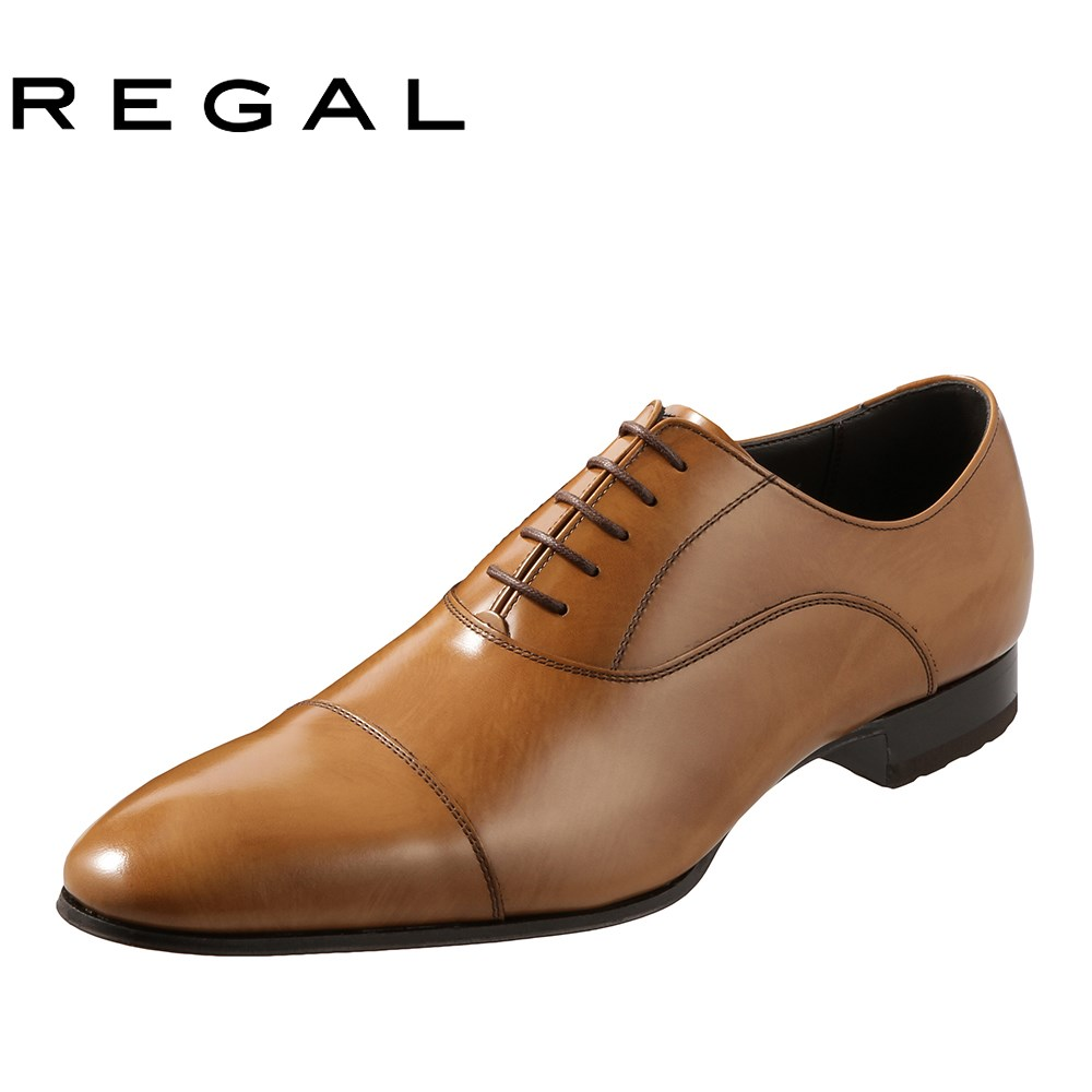 [リーガル] REGAL 011RAL メンズ   ビジネスシューズ   内羽根式 ストレートチップ   ロングノーズ スタイリッシュ   小さいサイズ対応 24.0cm 24.5cm   ブラウン
