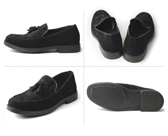 送料無料 本革 ローファー ドライビングシューズ メンズ カジュアルシューズ 革靴 デッキシューズ スエード スウェード モカR4L3j5A
