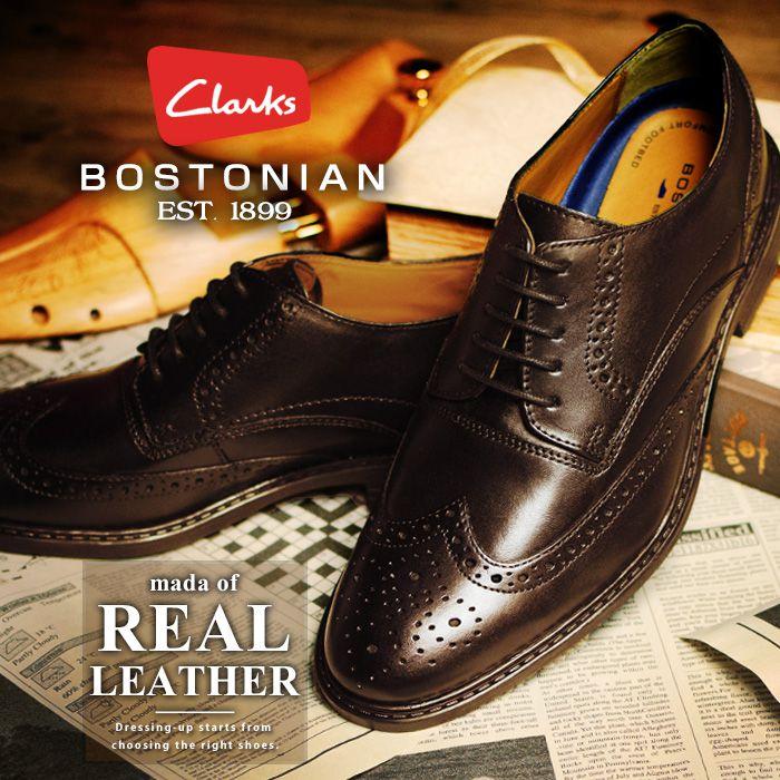 【送料無料】BOSTONIAN ボストニアン Clarks クラークス 姉妹ブランド ビジネスシューズ 本革 ドレスシューズ レザー ウイングチップ メンズ レザーシューズ 靴 革靴 紳士靴 19384 Garvan Edge/【あす楽対応】2019 春夏 トレンド