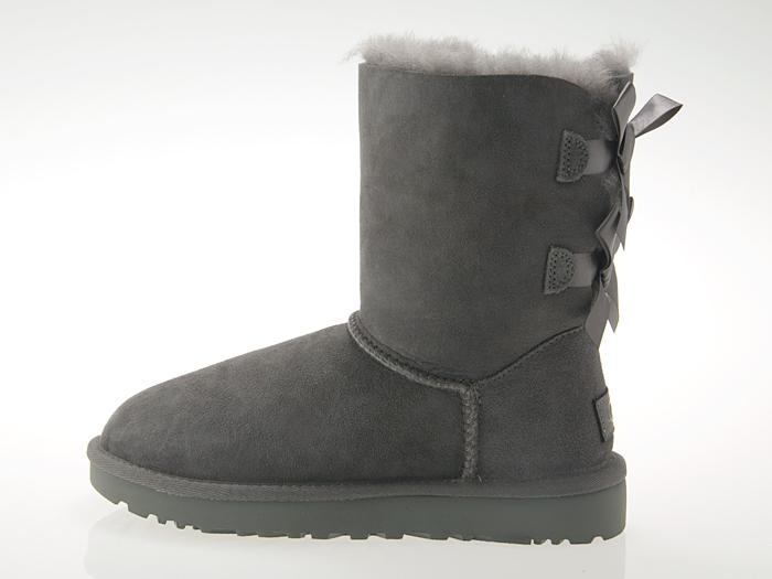 アグ UGG AUSTRALIA WOMENS BAILEY BOW II ウィメンズ ベイリー ボウ 2 レディース ムートン ブーツ シープスキン GREY グレー #1016225-grey