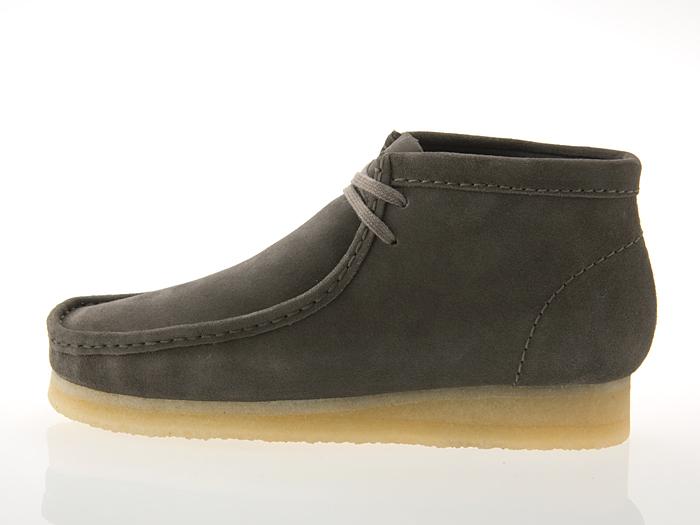 クラークス CLARKS WALLABEE BOOT ワラビー ブーツ GREY SUEDE グレー スエード #26128323