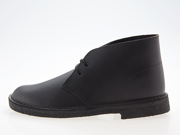 クラークス CLARKS ORIGINALS DESERT BOOTS デザートブーツ BLACK POLISHED LEATHER ブラック ポリッシュド レザー #26144225