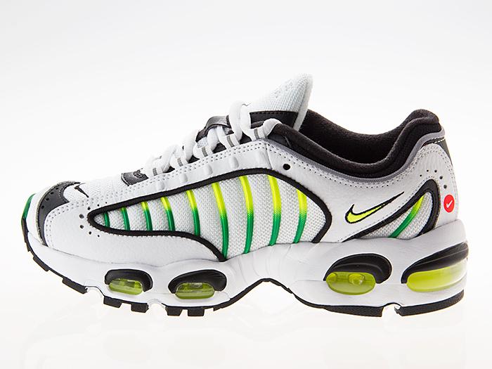 Nike NIKE AIR MAX TAILWIND IV GS Air Max tale wind 4 Lady's girls size WHITEVOLTBLACKALOE VERDE white black bolt green #bq9810 100
