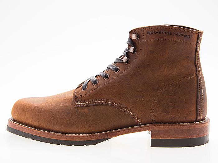 ウルヴァリン WOLVERINE 1000 MILE BOOT PLAIN TOE 1000マイル ブーツ プレーン トゥ EVANS エヴァンス MADE IN USA BROWN ブラウン 茶色 #W40049