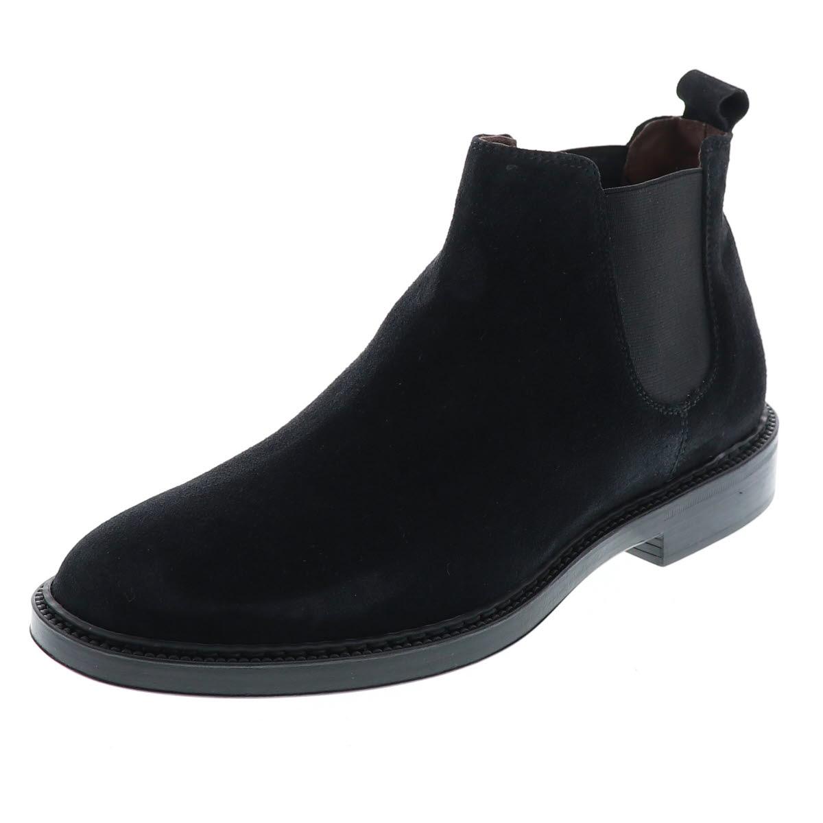 BOEMOS ボエモス メンズシューズ メンズブーツ サイドゴアブーツ 本革 天然皮革 スエード レザー イタリア製 ブラック 黒 BM-4792 BL