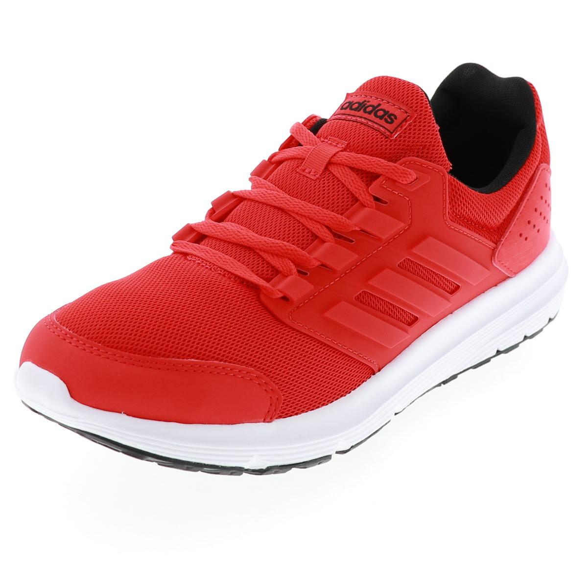 アディダス ADIDAS メンズ ジョギング スニーカー 運動靴 GLX4 EE7916 レッド・ブラック 24.5-30.0cm