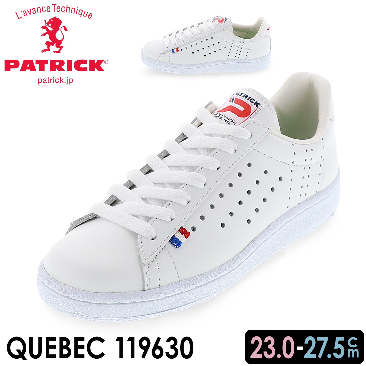 パトリック PATRICK QUEBEC ホワイト
