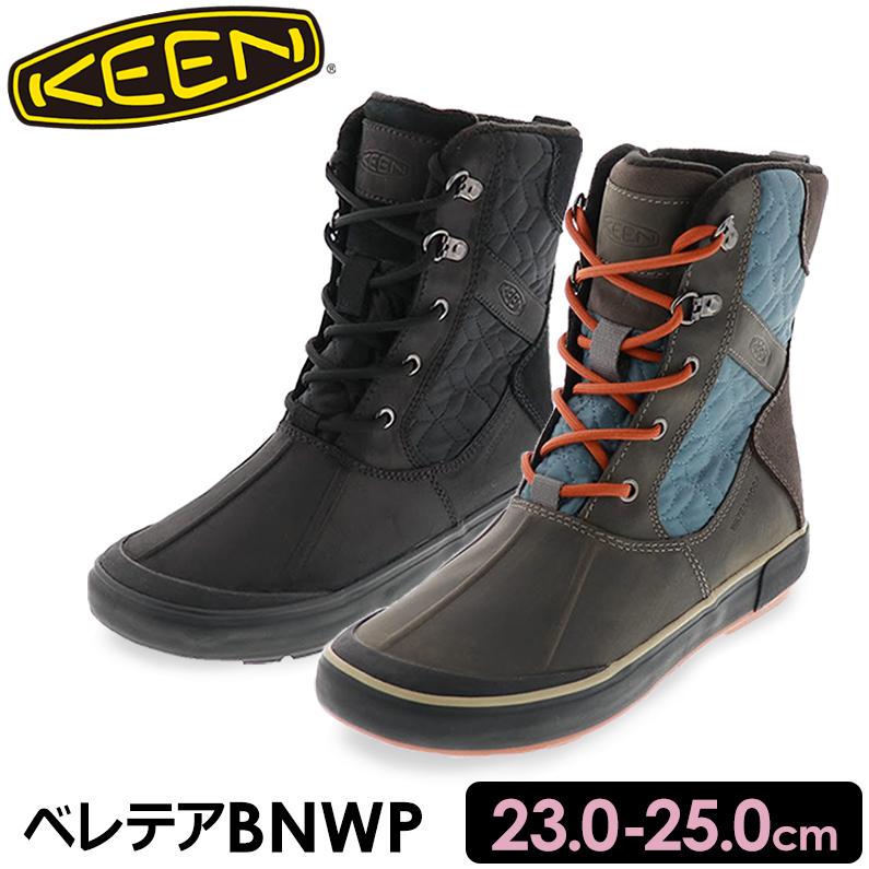 KEEN キーン レディース ウィンターブーツ Elsa II Waterproof Quilted Boot エルサ ベレテアBNWP ブラウン ブラック