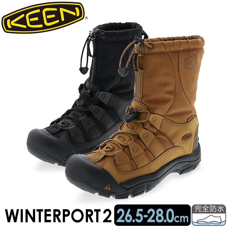 【送料無料 沖縄離島除く】 KEEN キーン メンズ カジュアルブーツ WINTERPORT2 ウィンターポート II コヨーテ トゥルーブラック