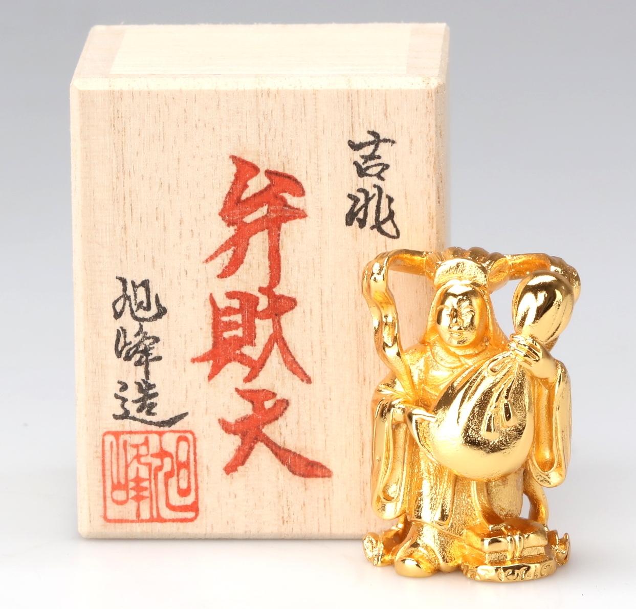 【高岡銅器】ミニ七福神 弁財天 金メッキ