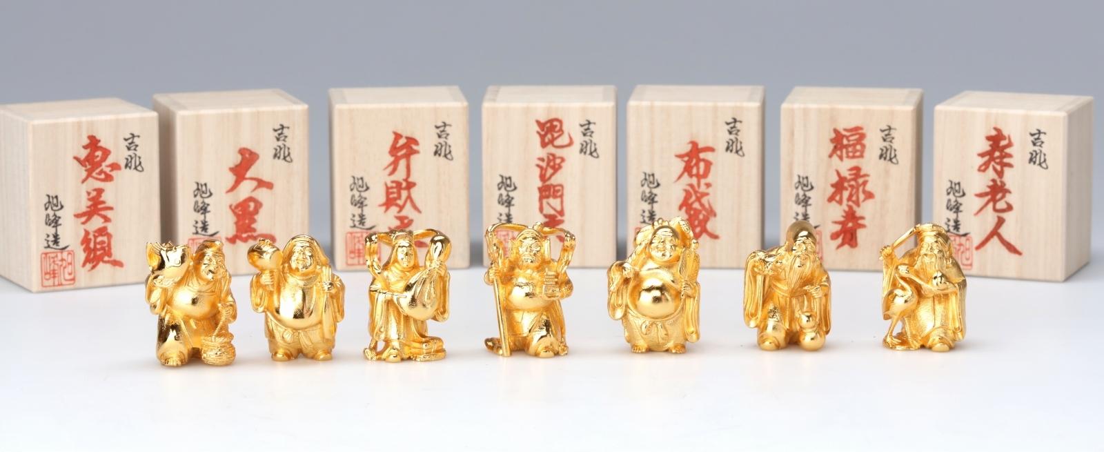 【高岡銅器】ミニ七福神セット 金メッキ