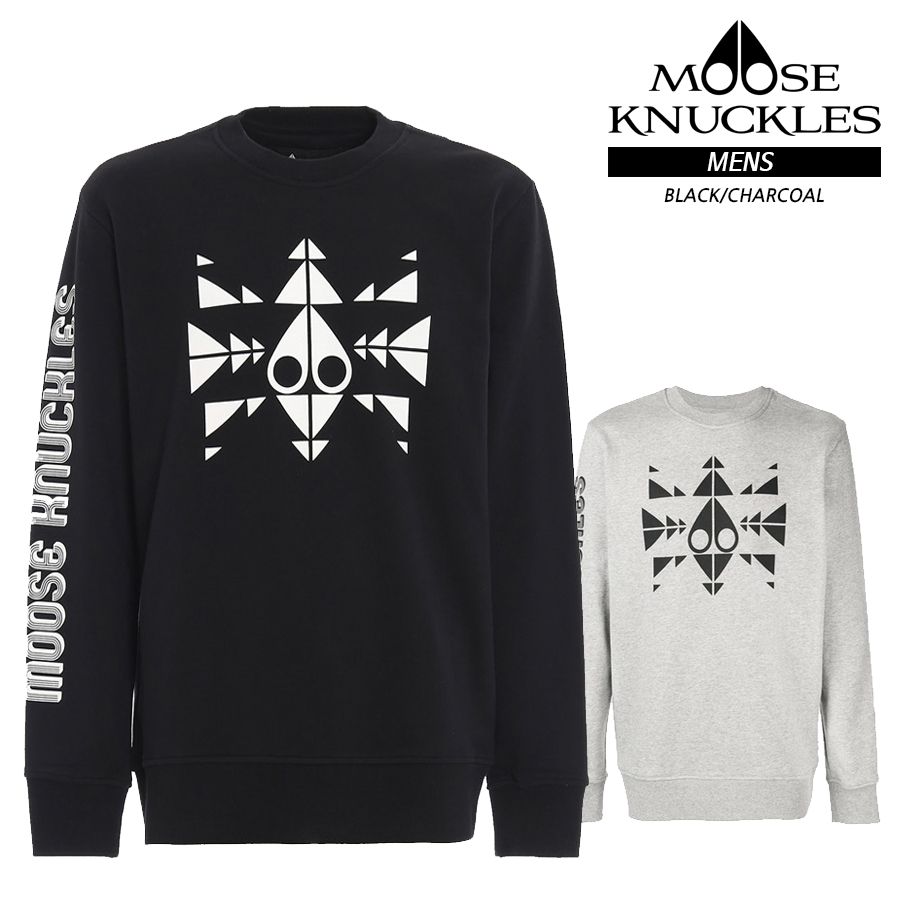 MOOSE KNUCKLES MENS M19MS604 TRIPPY LOGO PULLOVER ムースナックルズ メンズ ロゴ カットソー