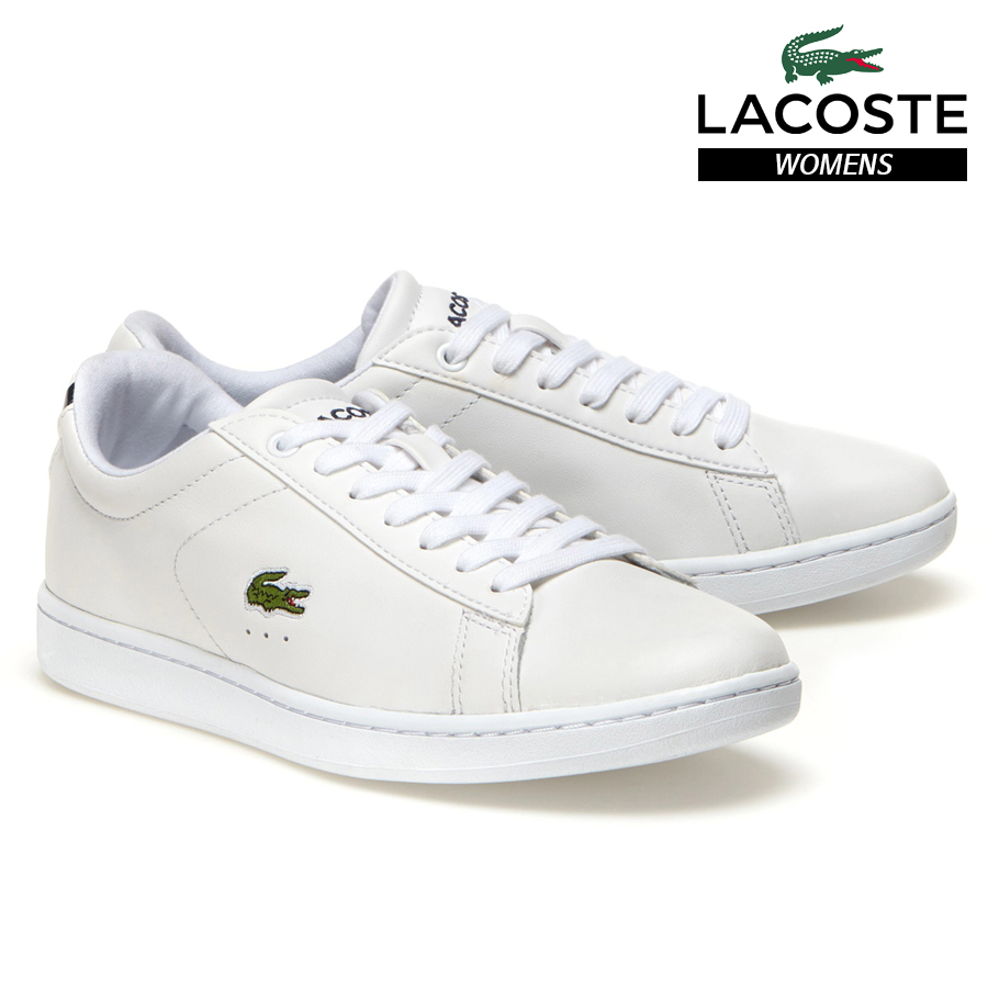 LACOSTE WOMENS CARNABY EVO SNEAKERS BL 1 SPW WHITE 732SPW0132-001 ラコステ レディース スニーカー ホワイト