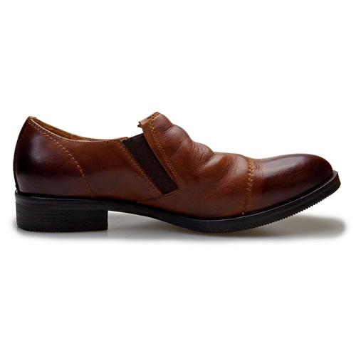期間限定ポイント10倍6 24 23 59まで RAUDi ラウディ メンズ MENS 本革 カジュアルシューズ 革靴 革 靴 くつ 水洗い加工 スリッポン レザー ブラウン 茶 R 82106送料無料あす楽zSVqpGMU