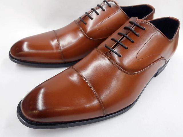 【28.0cm】【29.0cm】ヒロコ コシノ 靴 ビジネスシューズ ストレートチップ HK14601(ブラウン) HIROKO KOSHINOメンズ