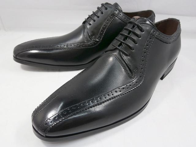 ユキコ ハナイ 本革 ビジネスシューズ スワールモカレース YH3113(ブラック) YUKIKO HANAI メンズ靴