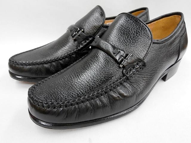 4219(ブラック)メンズ 靴 マレリー(Marelli)ディアスキン革使用 4Eスリポンビジネスシューズ