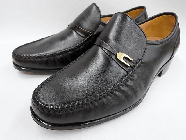 マレリー(Marelli)NAPPAキップ革使用 4Eスリポンビジネスシューズ 4220(ブラック)メンズ 靴