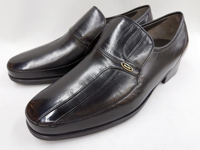 マレリー(Marelli)シープ革使用 4E Wモカシーノ製法 ビジネスシューズ 4230(ブラック)メンズ 靴