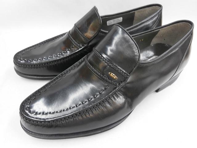 【3Eワイズ】さらに歩き易さを追求した3ゾーンインソール採用! マレリー(Marelli)山羊革 3E モカシーノ製法ビジネスシューズ 5120(ブラック)メンズ 靴