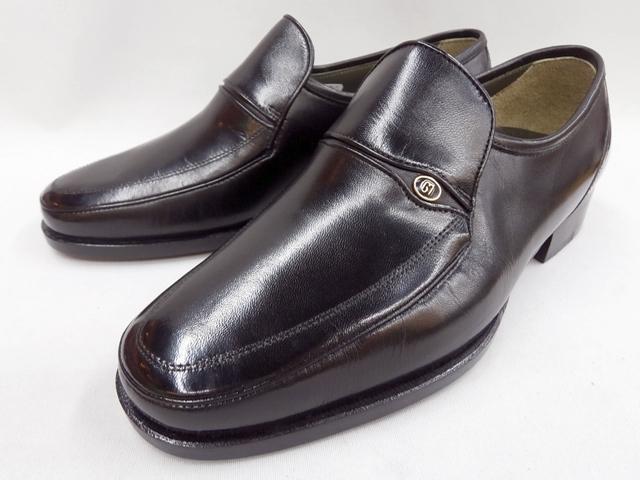 マレリー(Marelli)山羊革 Wモカシーノ製法 3E ビジネスシューズ 6060(ブラック)メンズ 靴