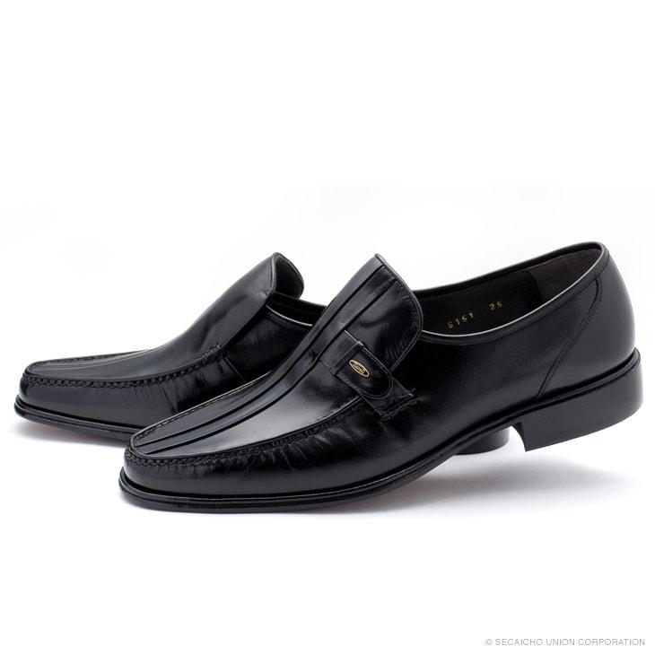マレリー(Marelli)山羊革 手縫いモカシーノ製法 3E ビジネスシューズ 6151(ブラック)メンズ 靴