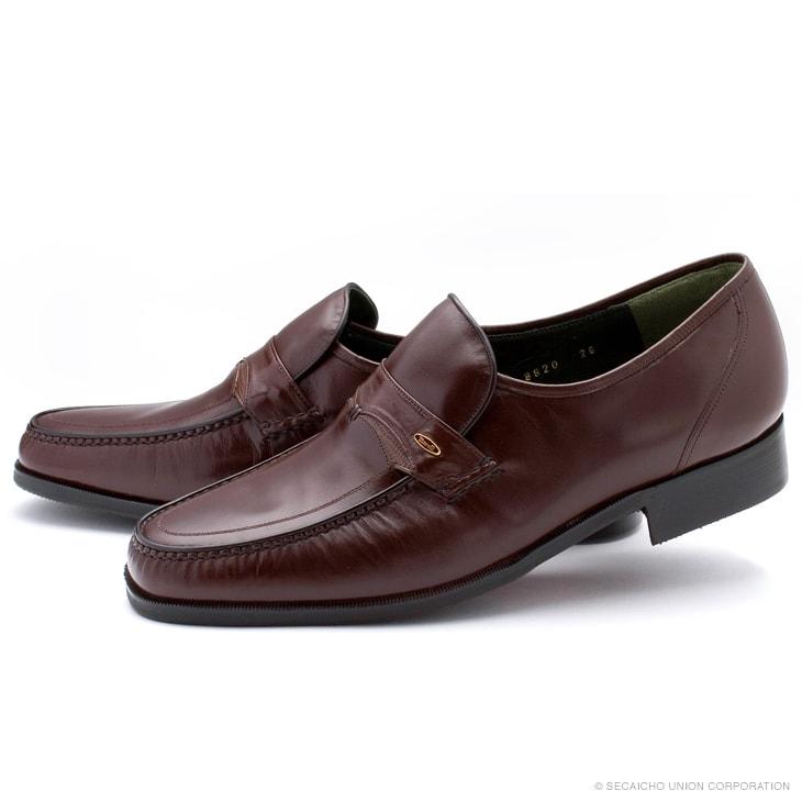 マレリー(Marelli)撥水カンガルー革使用 4E 本モカシーノ製法ビジネスシューズ 8620(ダークブラウン)メンズ 靴