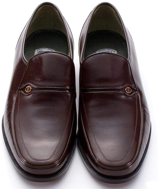 マレリー(Marelli)山羊革 Wモカシーノ製法 3E ビジネスシューズ 6060(ダークブラウン)メンズ 靴