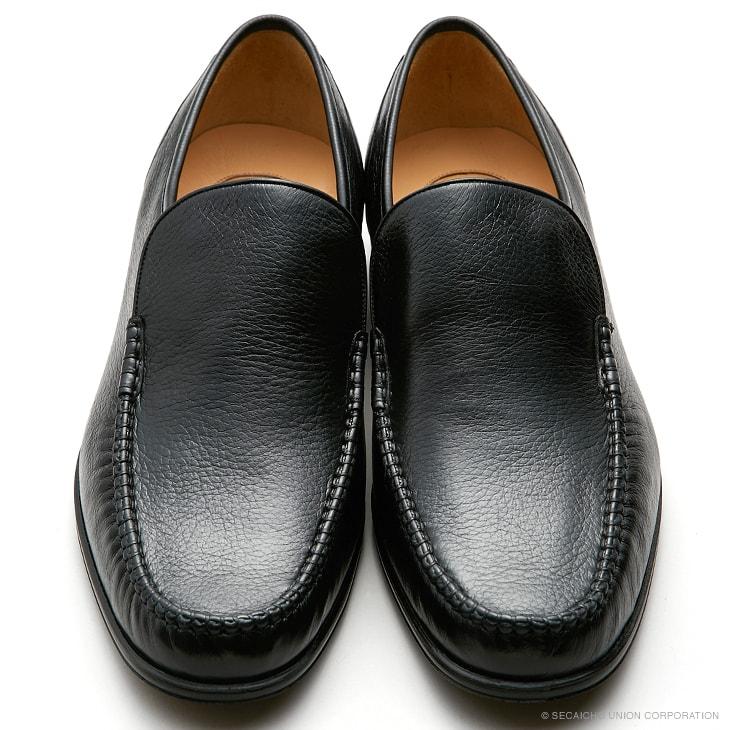 マレリー(Marelli)ディアスキン革使用 3Eスリポンビジネスシューズ 4218(ブラック)メンズ 靴