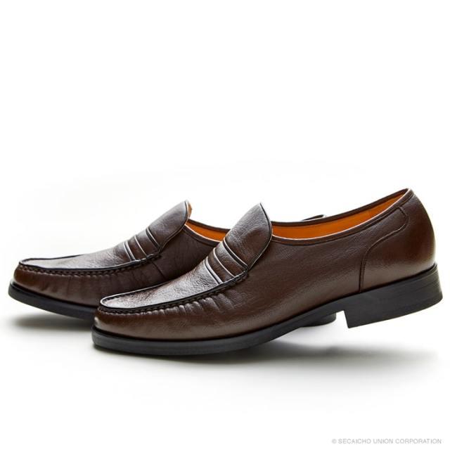 マレリー(Marelli)撥水ディアスキン革使用 4Eスリポンビジネスシューズ 4221(ブラウン)メンズ 靴