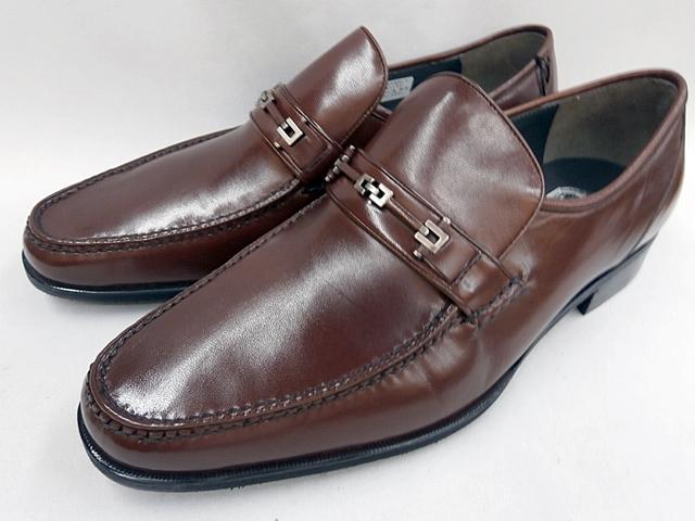 マレリー(Marelli)4E 手縫いモカシーノ製法 ビジネスシューズ 7920(ブラウン)メンズ 靴