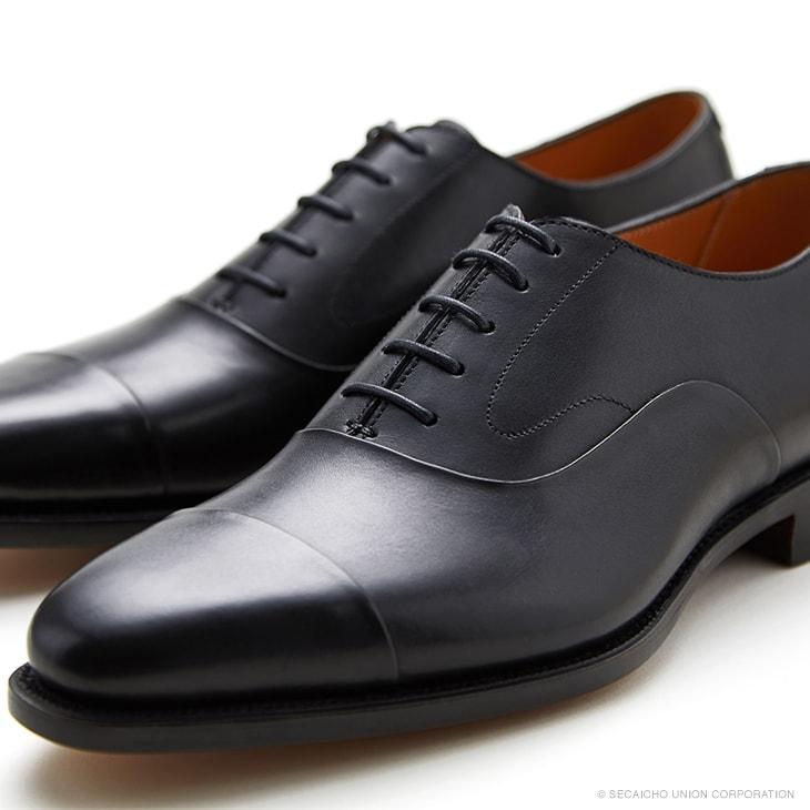 ユニオンインペリアル カーフ革 ストレートチップ ビジネスシューズ U3001(ブラック) メンズ靴 UNION IMPERIAL